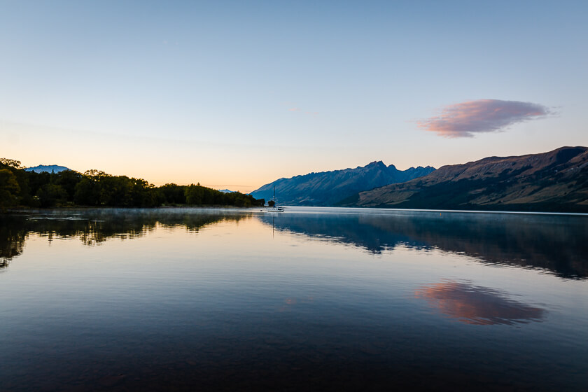 Glenorchy Lagoon at Sunrise