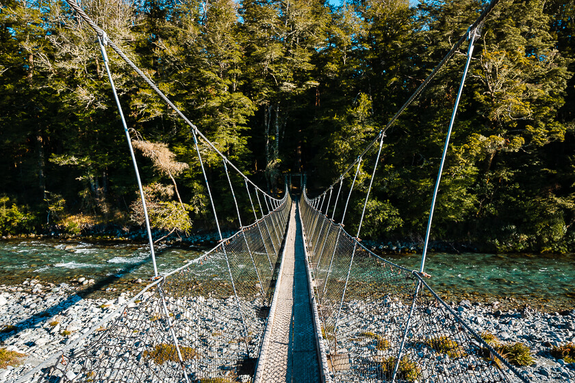 Lake Sylvan Track Suspension Bridge Glenorchy