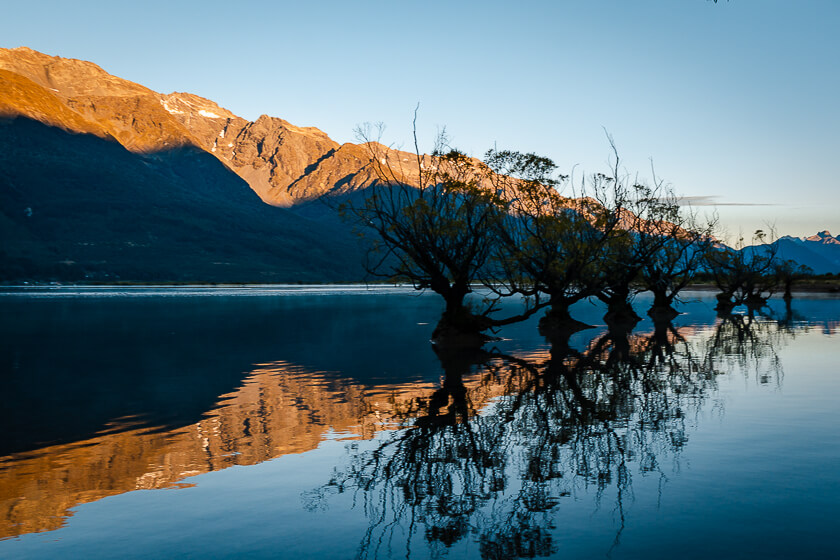Glenorchy Walkway Boardwalk at Sunrise